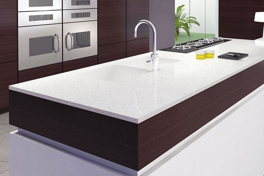 Solid Surface Kitchen Cabinet Quartz Counter Tops Table Beny