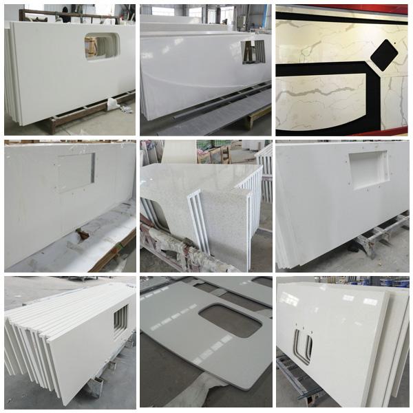 Precut Kitchen Countertops : Pre Cut Engineered Quartz Stone Countertop for Kitchen 2015-11-06