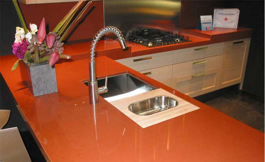 Orange Countertop Best Home Design 2018